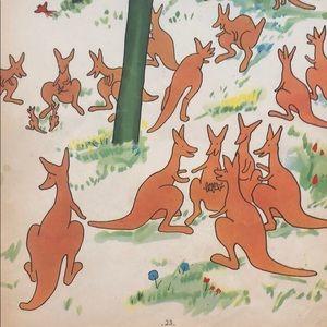 Kangaroo babar print